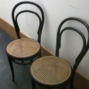 Thonet Cane Cafe Chairs
