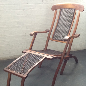 Steamer Deck Chair Leather weave