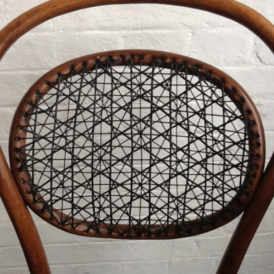 Bentwood Chair Leather Weave